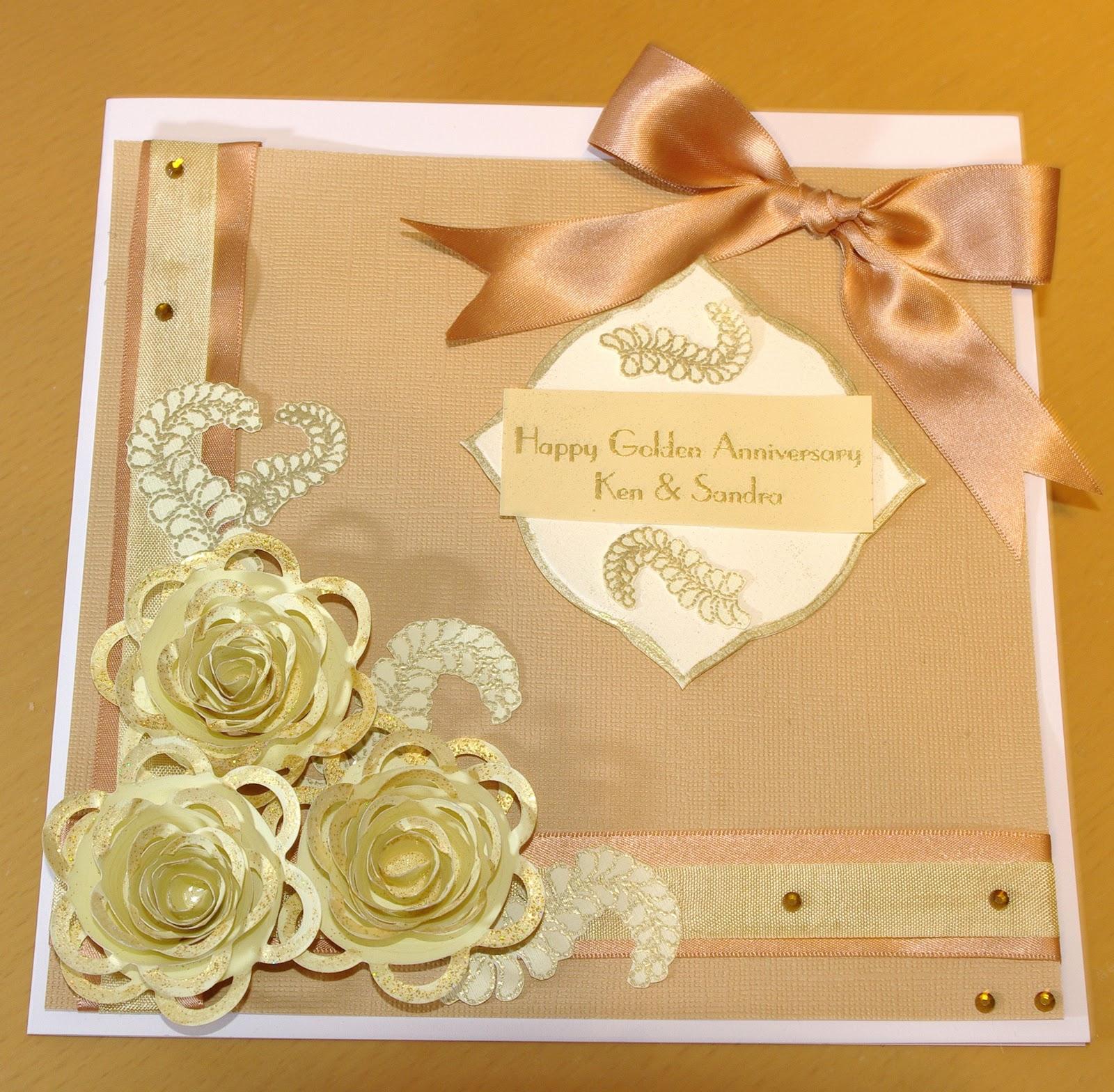 mowbray designs: golden wedding anniversary card