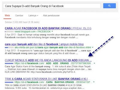 Cara mendapatkan pengunjung blog dari facebook