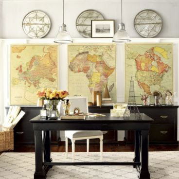 Un Coup D'aile: Show me the Way: Decorating with maps