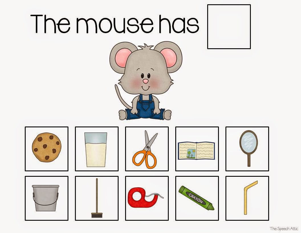 The Speech Attic If You Give A Mouse A Cookie