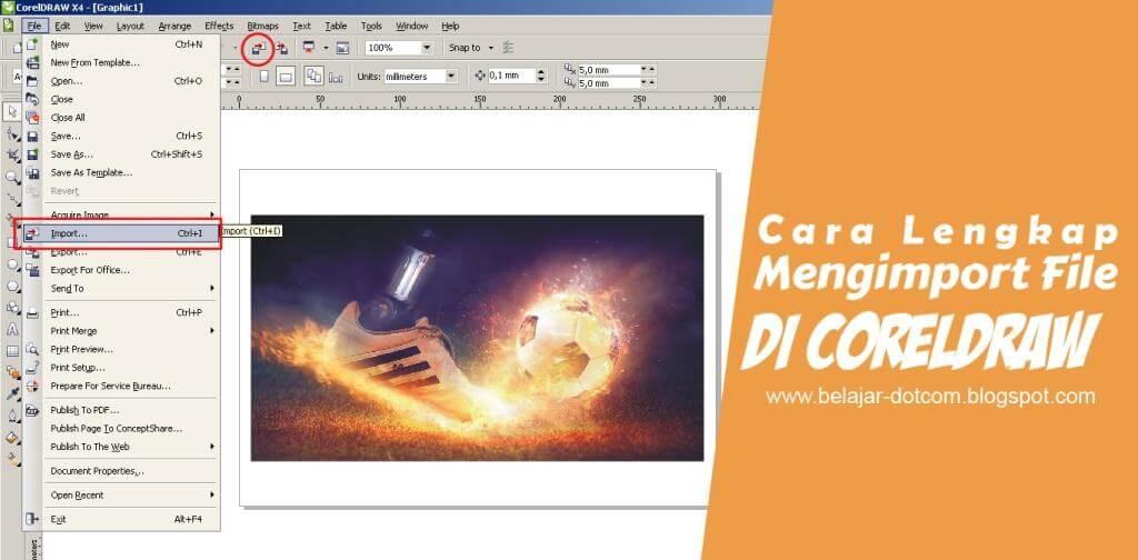 Cara Lengkap Mengimport File atau Gambar di CorelDRAW - Kumpulan Tutorial