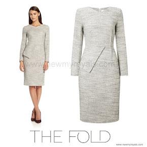 Kate Middleton Style The Fold  Eaton winter white tweed dress