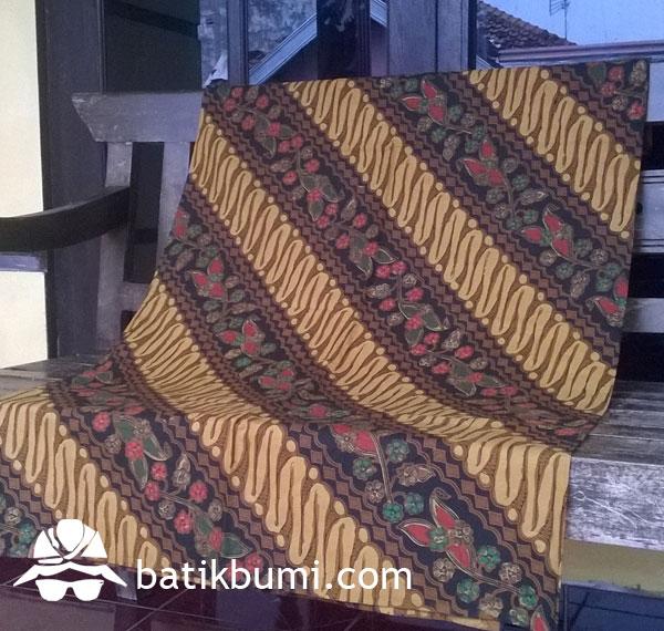 Kain Batik Sogan Cap mix Tolet Parang Seling