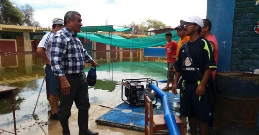 GRE Lambayeque suspende clases en todos los colegios de la región por lluvias intensas