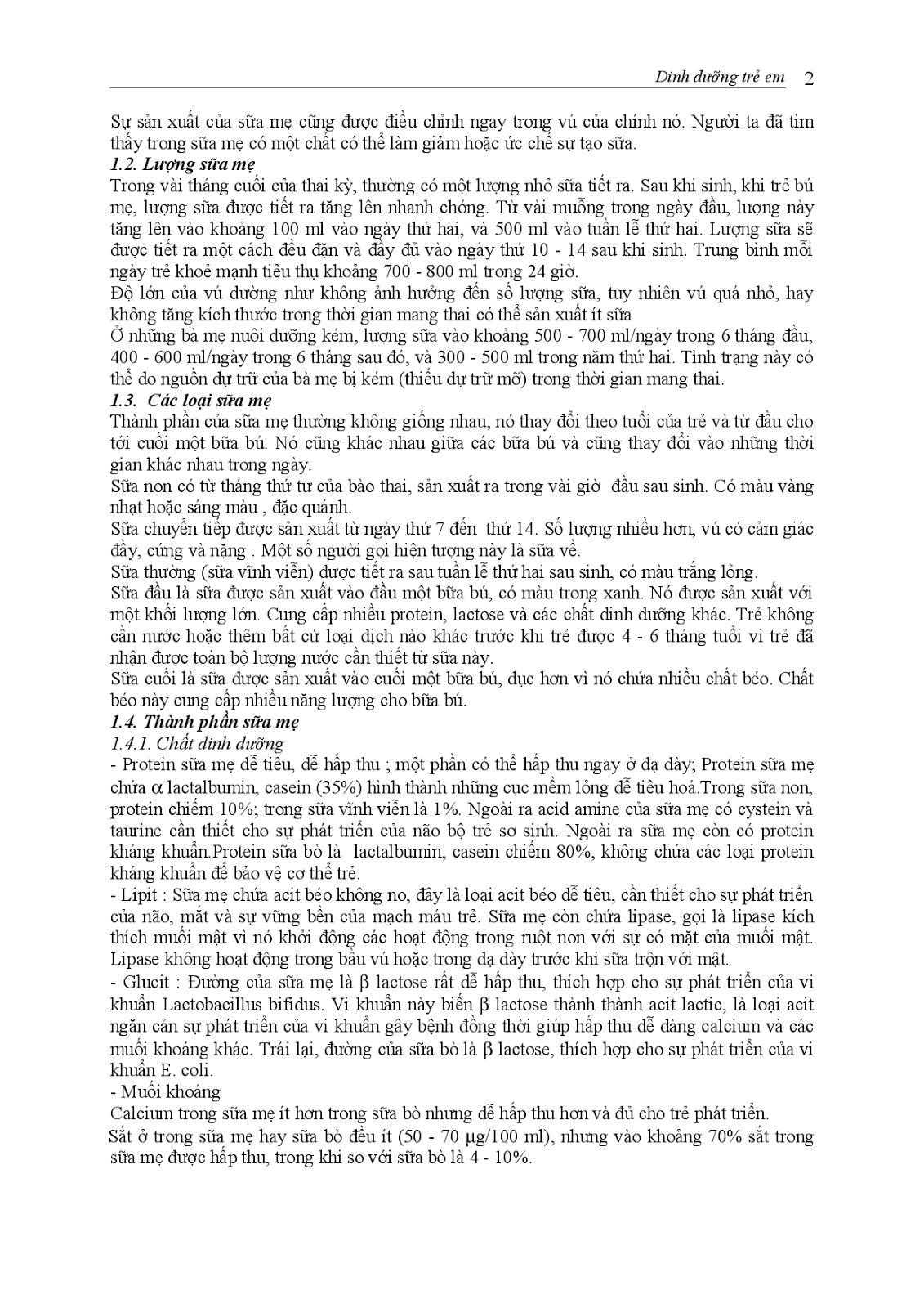 Trang 2 sach Bài giảng Nhi khoa I (Nhi khoa cơ sở - Nhi dinh dưỡng) - ĐH Y Huế