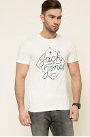 Tricou alb din colectia Jack & Jones.