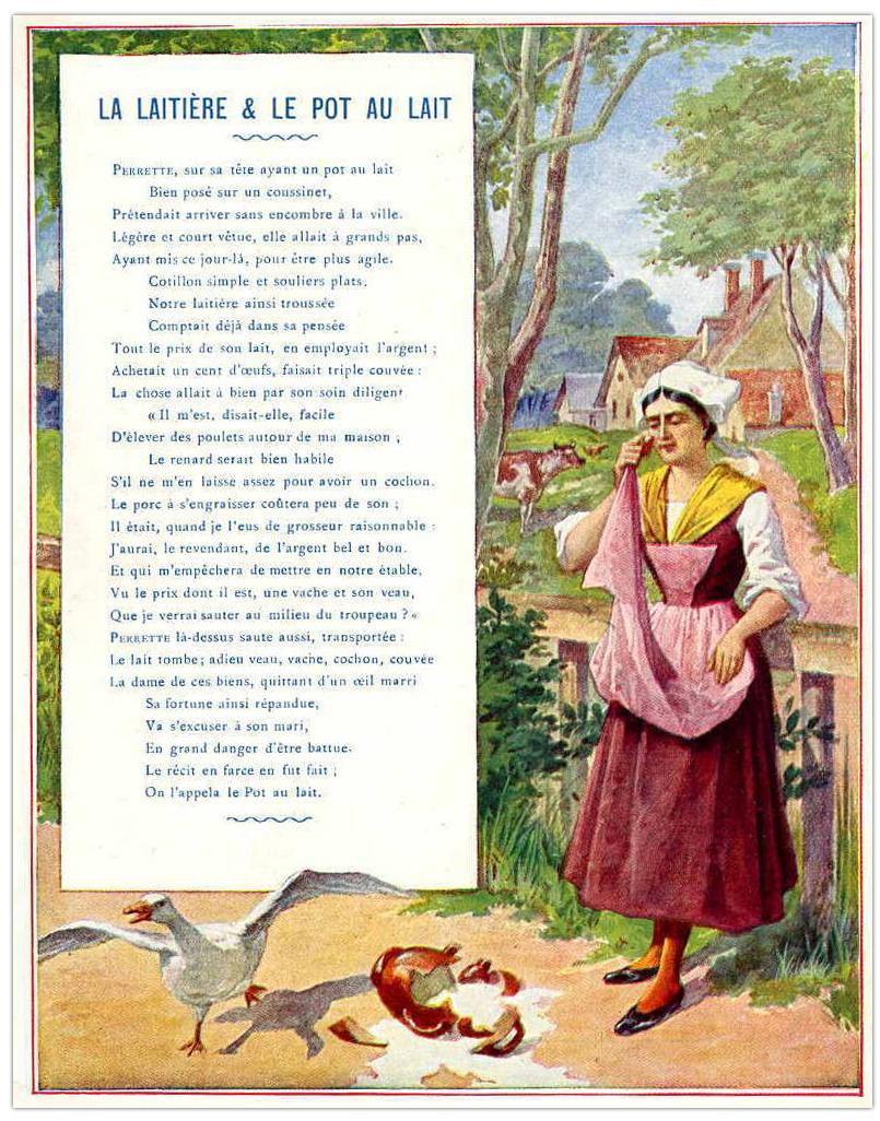 Perrette Et Le Pot Au Lait Texte : perrette, texte, Héraldie:, Laitière