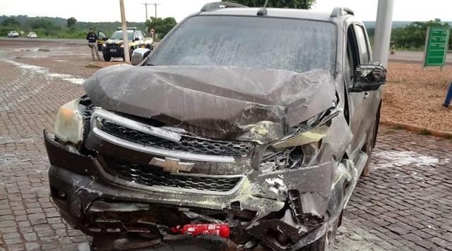 Colisão entre Gol e S10 deixa uma pessoa ferida na BR 316 em cidade vizinha a Picos