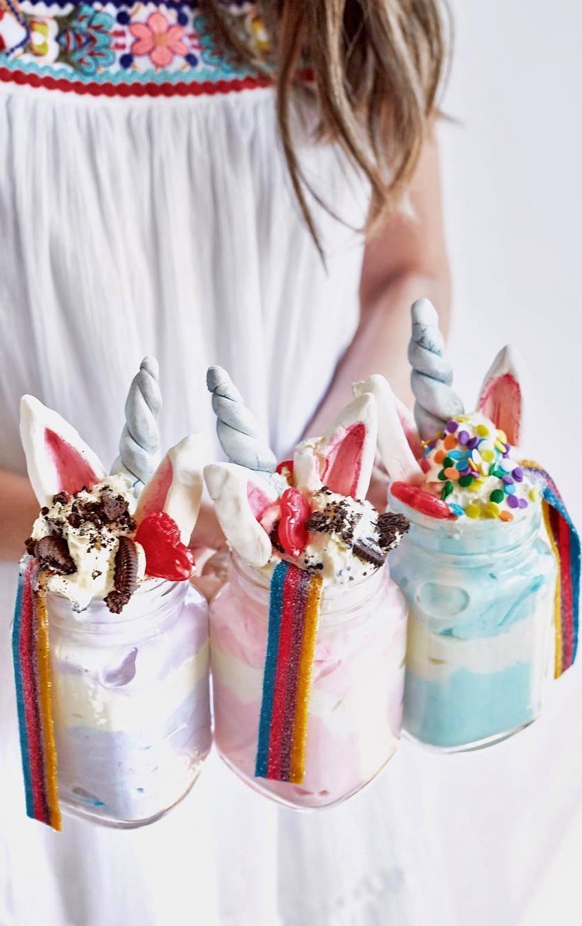 DIY Unicorn Milkshakes