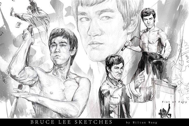 Milton Wong (Hong Kong) - Bruce Lee art collection @ YellowMenace