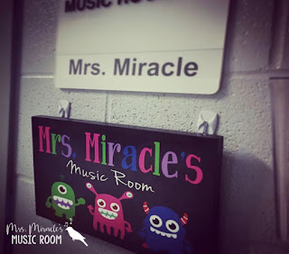 Mrs. Miracle's Music Room Reveal: Monster-themed classroom!
