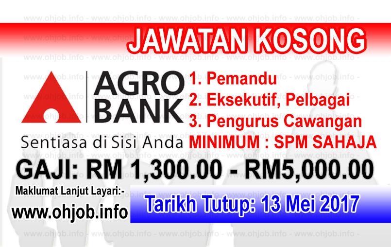 Jawatan Kerja Kosong Bank Pertanian Malaysia Berhad - AgroBank logo www.ohjob.info mei 2017