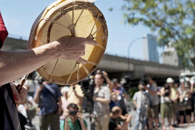 Manif de casseroles en solidarité avec les Algonquins de Lac Barrière, 18 juillet 2012, Montréal [photos David Champagne]