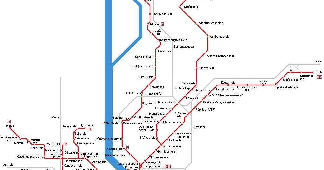 Riga Subway Map.Streetcars And Spatial Analysis Riga Latvia Tram Route Map