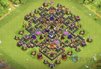 Base Hybrid TH 8 Clash Of Clans Terbaru Tipe 6