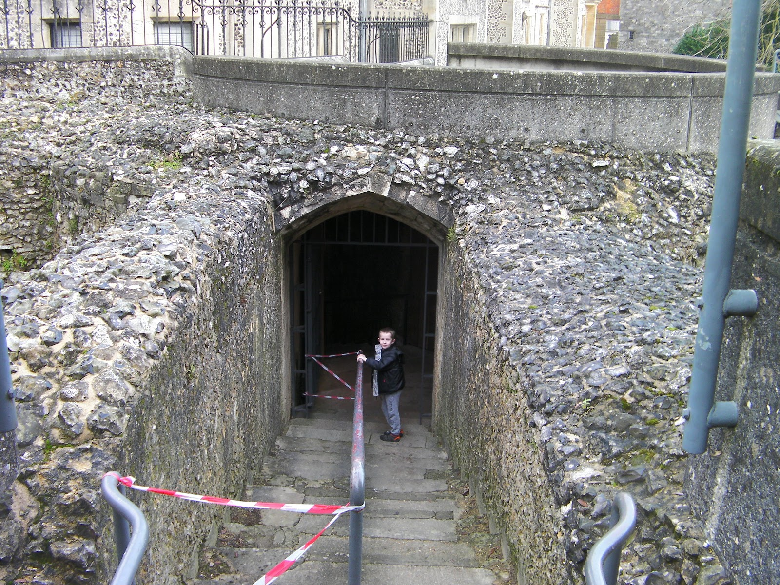 winchester castle tunnel and sally port under tower