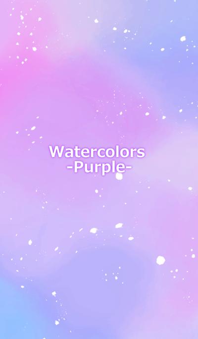Watercolor -Purple-