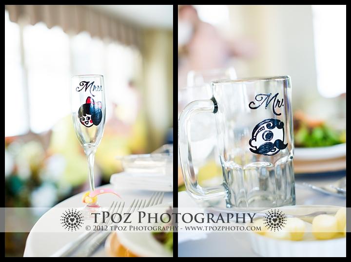 natty boh guy Utz girl mr & mrs wedding glasses