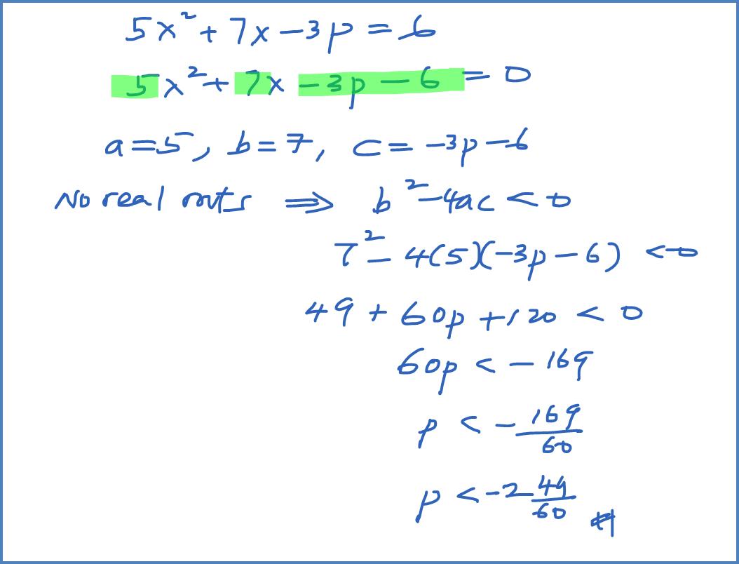 Spm Practice Question Quadratic Equation