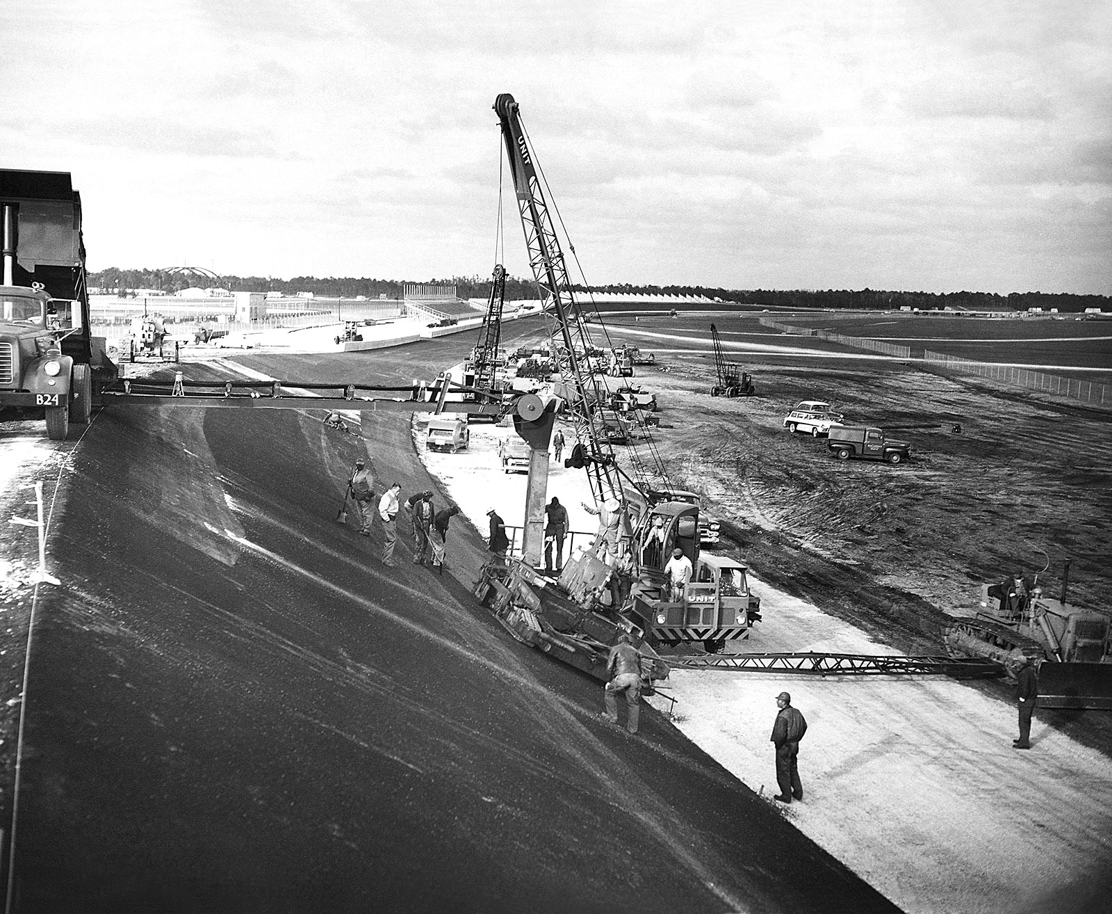 This Next Photo Below Shows Construction Taking Place For The Daytona Race Track Which Replaced Sandy Beach Course Pictured Above