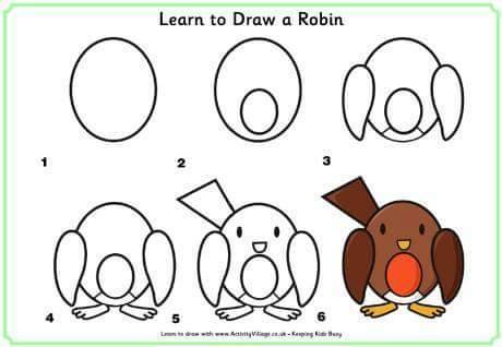 Learn to draw a bird for kids 2