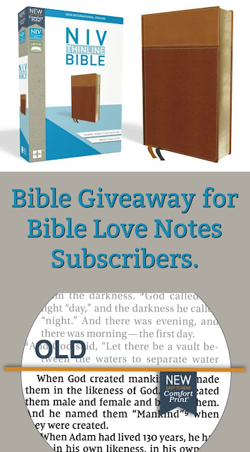 Bible Giveaway for Bible Love Notes Subscribers