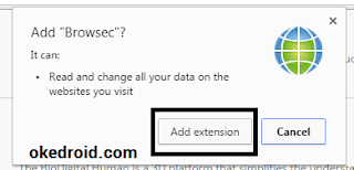Add Extention Browsec Chrome