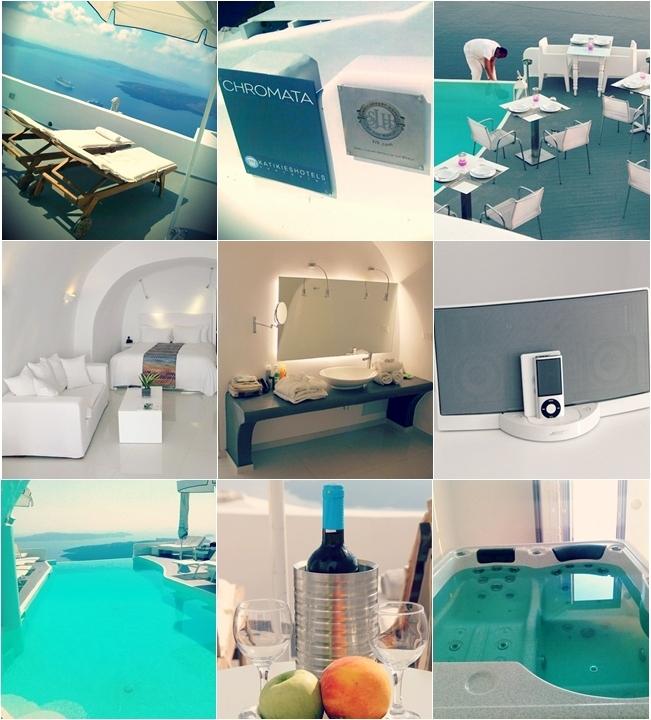 Chromata Santorini hotel travel photos