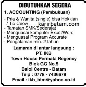 Lowongan Kerja PT IKB Indonesia