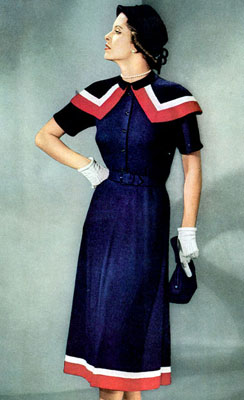 The Vintage Pattern Files : Free 1950's Knitting Pattern - Derby Day Dress