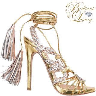 Brilliant Luxury ♦ let it glitz ~ sandals in GOLD