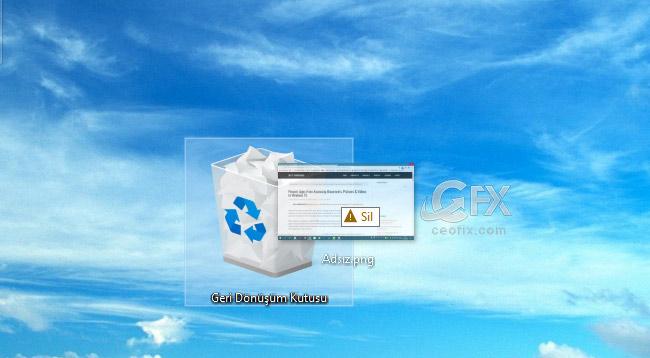 Dosyaları Geri Dönüşüm Kutusuna Göndermeden Sil-www.ceofix.com