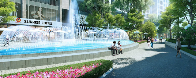 Cảnh quan của dự án chung cư Sun Grand City 58 Tây Hồ.