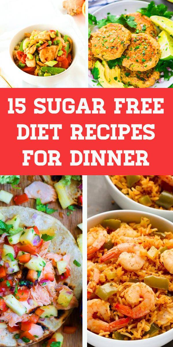 15 Sugar Free Diet Recipes For Dinner. Chicken recipes, Gluten free recipes for dinner, Healthy dinner recipes for weight loss, Sugar free diet plan, Easy dinner recipes, Gluten free dairy free recipes #keto #ketorecipe #ketogenic #lowcarb #sugarfree #dinner #paleo #whole30 #sugarfreedietplan #sugarfreedinner #glutenfreerecipesfordinner #sugarfreedietrecipefordinner