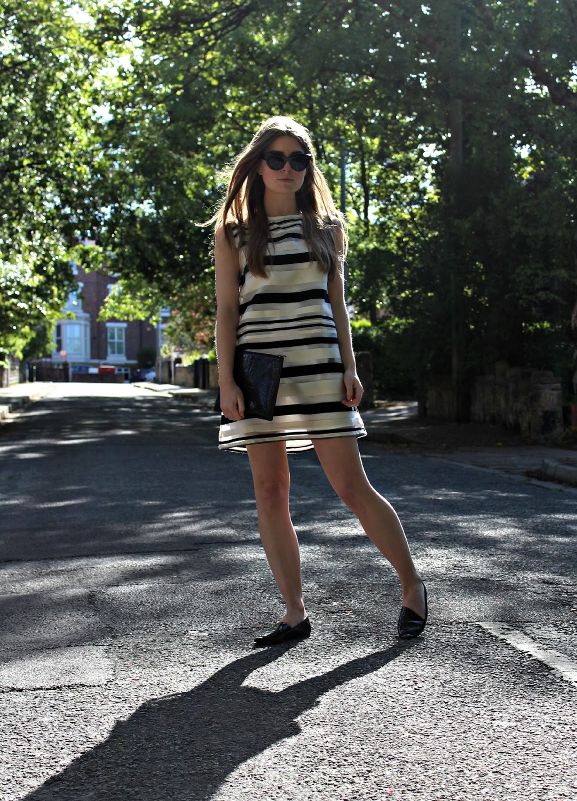 1bbb40d146d Style Trunk   Outfit  Jovanna Striped Shift Dress