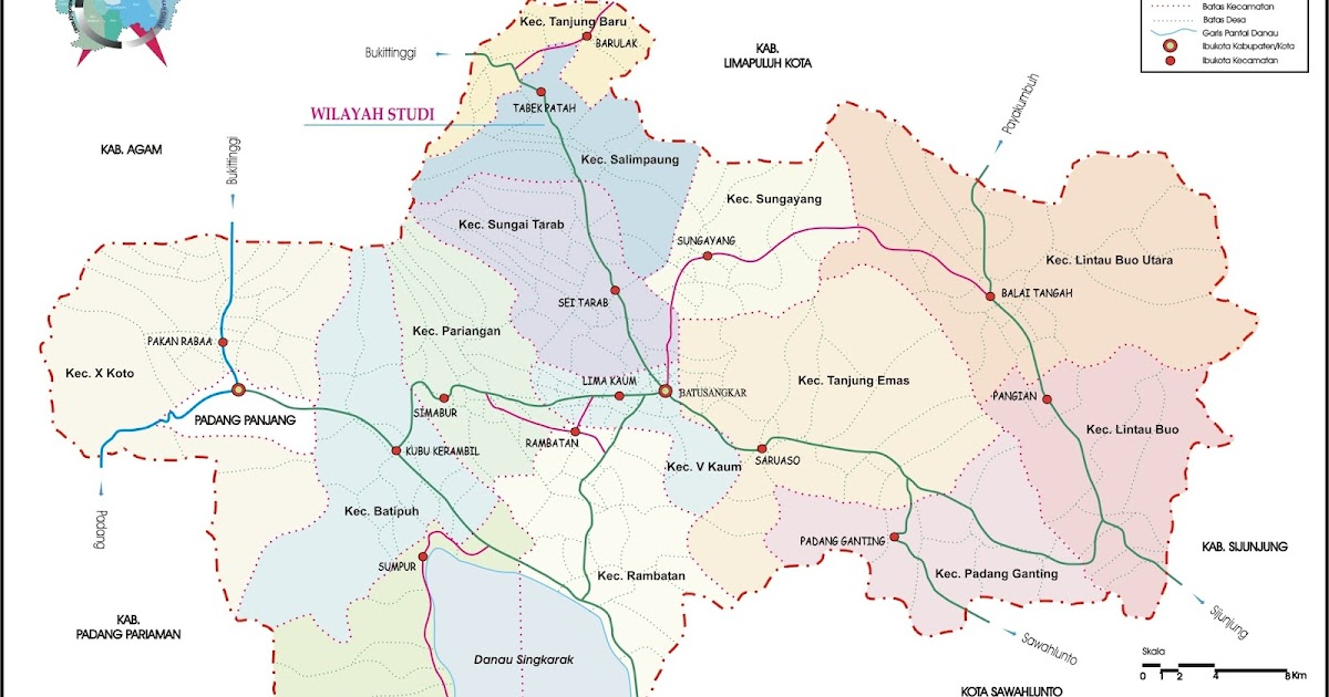 Peta Kota: Peta Kabupaten Tanah Datar