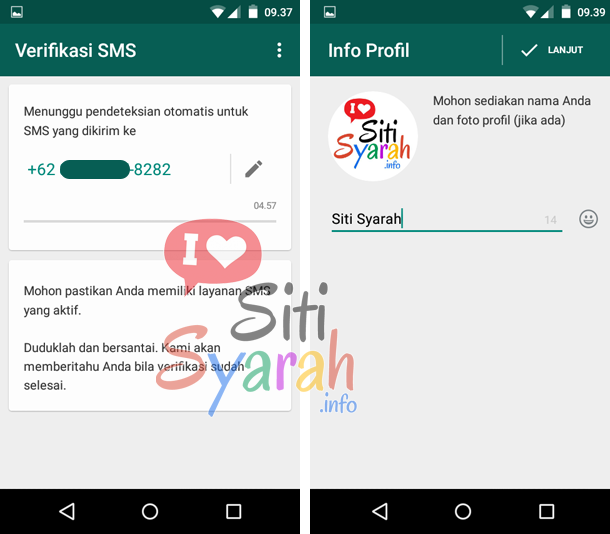 cara mengaktifkan whatsapp android