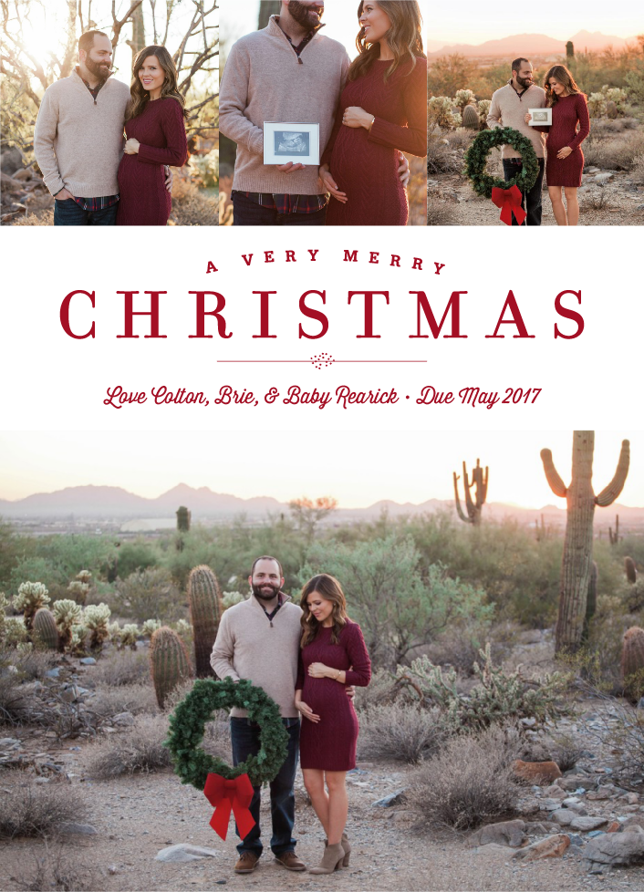 Christmas Card 2016 (and some exciting news!)