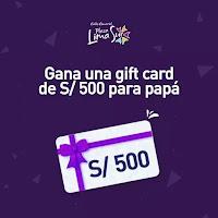 Promoción: Plaza Lima Sur Gana: Una gift card S/ 500
