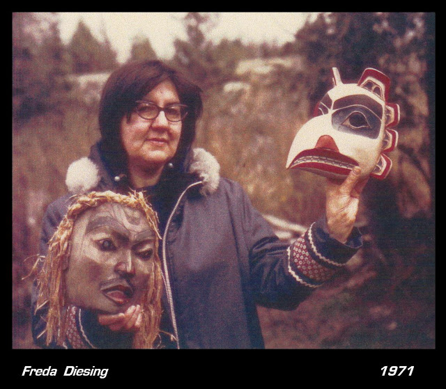 Freida Deising Haida mask carving