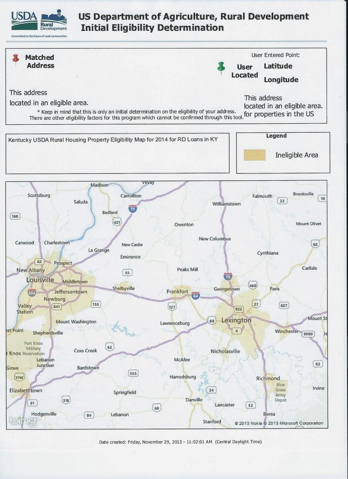 2019 kentucky usda property eligibility map