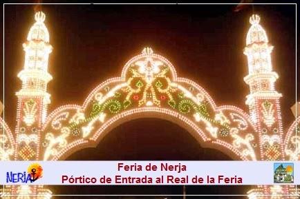 Iluminación del Pórtico de Entrada al Real de la Feria de Nerja
