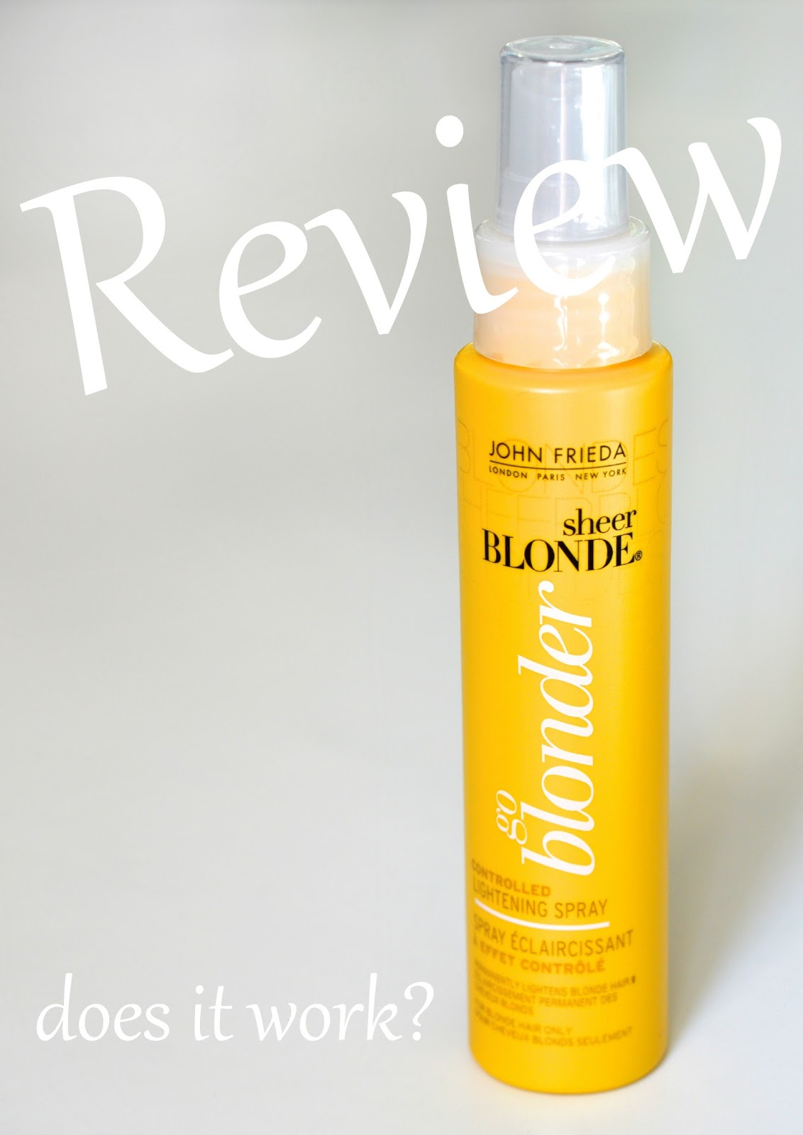 Review John Frieda Go Blonder Lightening Spray