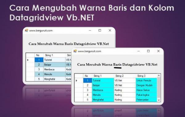 Cara Mengubah Warna Baris Dan Kolom Datagridview VB.Net