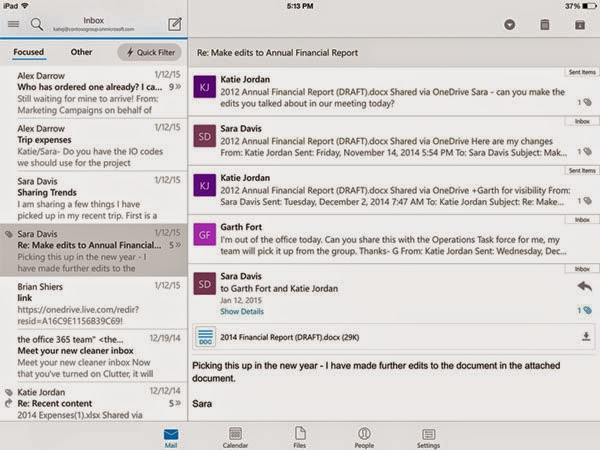 Microsoft Outlook email app for iOS and Android released