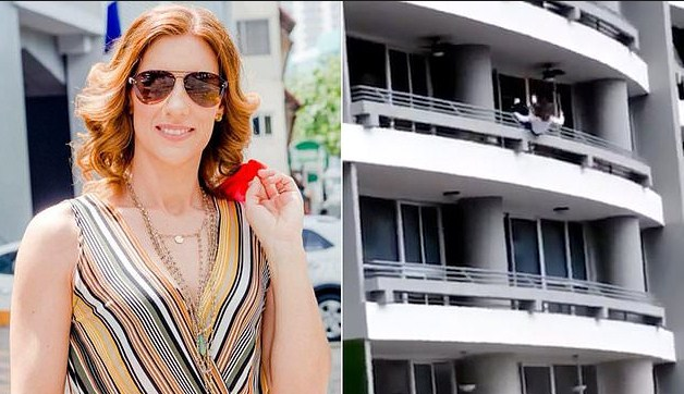 Shocking moment woman taking a selfie on 27th floor balcony,Woman who fell to death taking selfie on 27th floor balcony pictured,Horror moment mum falls to her death from 27th floor balcony,First picture of woman who fell to death taking 27th floor balcony selfie