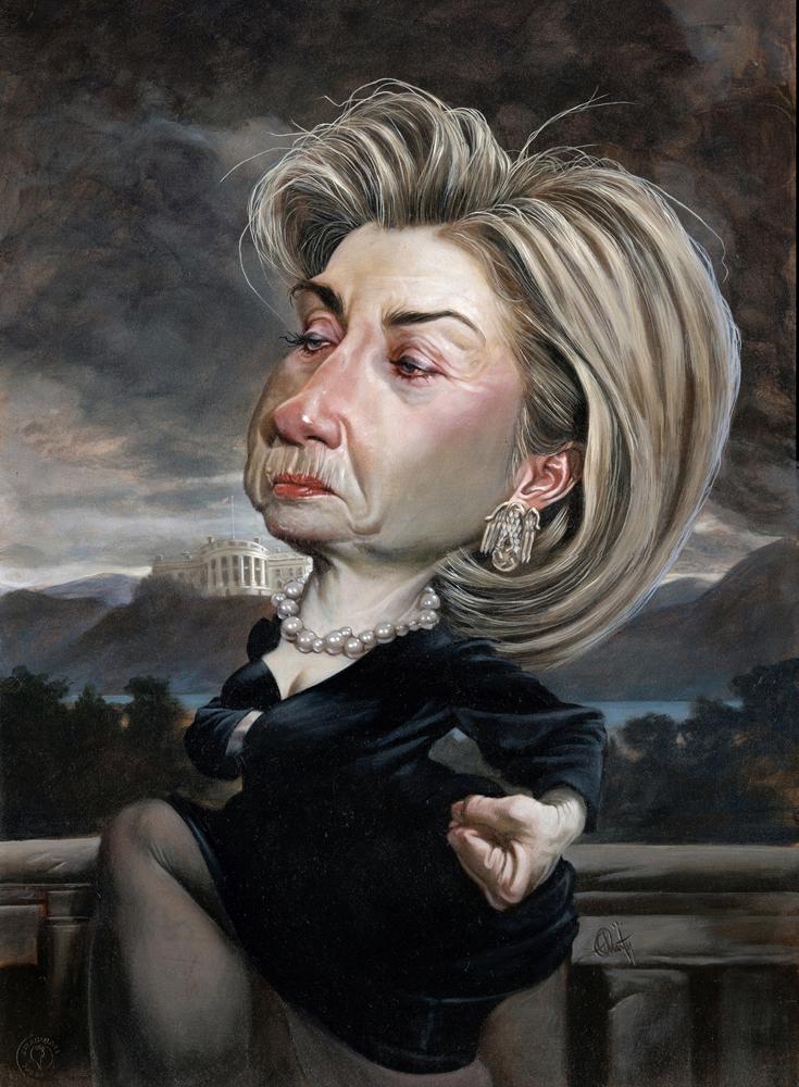 Hillary Clinton por Thomas Fluharty