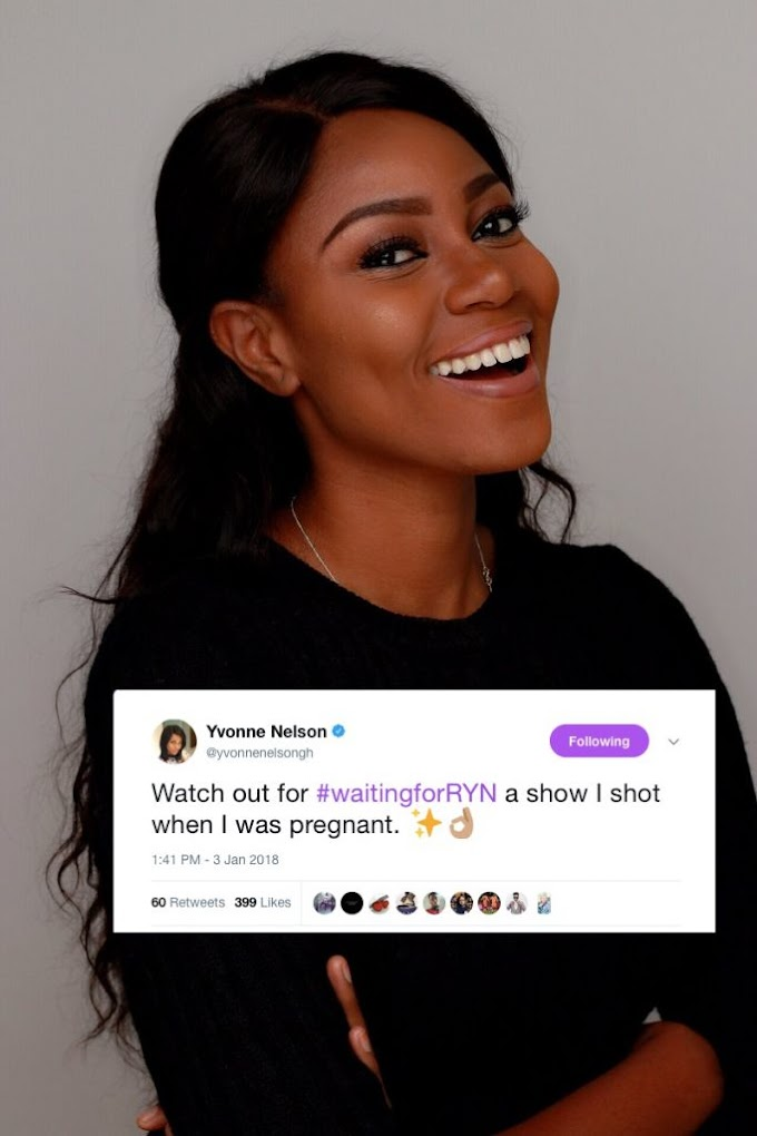 Yvonne Nelson announces TV show on her pregnancy 'Waiting For Ryn'