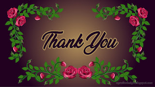 Thank You Card Romantic Rose Flower And Leaves Flourishes Purple Background