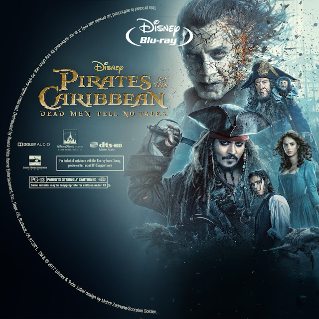 Pirates Of The Caribbean Dead Men Tell No Tales Bluray Label